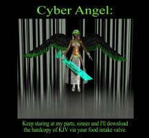 Cyber Angel take 1 by KingNot