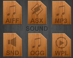 Wood icons for sound types by teroleg