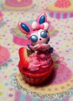 Sylveon Strawberry Cupcake 2 by LaPetitLapearl