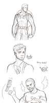 Captain America Doodles by Itabia