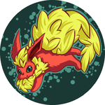 Flareon Button by Azurah