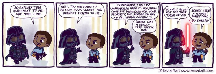 Star Wars Funnies: Lando by kevinbolk