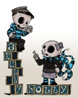 The REAL Holly and Skully! by MrDinks