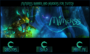 Mimerss headers plus banner by CajatheCupcake