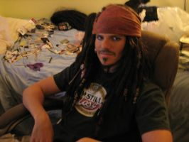 Jack sparrow makeup test by Immarumwhore