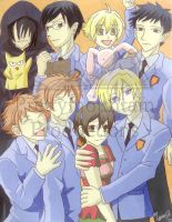 Ouran Host Club Group by prettymountain