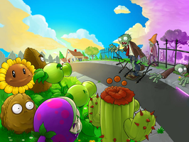 Plants VS Zombies Wallpaper by TheBestNightmareEver