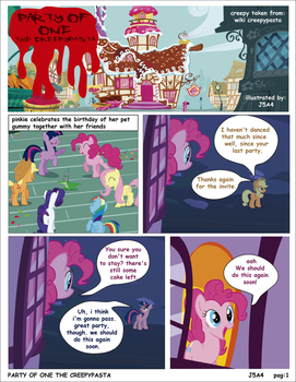 Mlp Party Of One Pag1  creepypasta (english) by j5a4