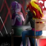 My little pony - Starlight Glimmer and Sunset by HelgaButtercup