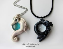 Dragon Pendants by ArteDiAmore