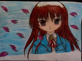 Japanes Girl Made By Colors Pencils by blackcat1812