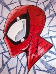 Spiderman: Head profile by JCee911