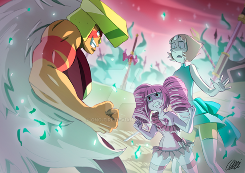 Steven Universe Commission - On the battlefield by oNichaN-xD