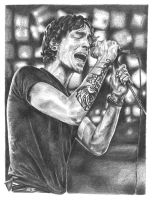 Brandon Boyd - Graphite pencil by JK-Studios