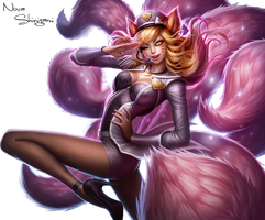 League of Legends ~ Popstar Ahri Render by NovaShinigami