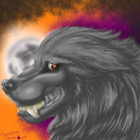 As the Moon rears it's head - Wolfhowl Entry by FurnarchyDevil