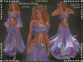 Wisteria Wind Outfit PURPLE by Elvina-Ewing