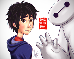 Hiro and Baymax - Big Hero 6 by nay-only