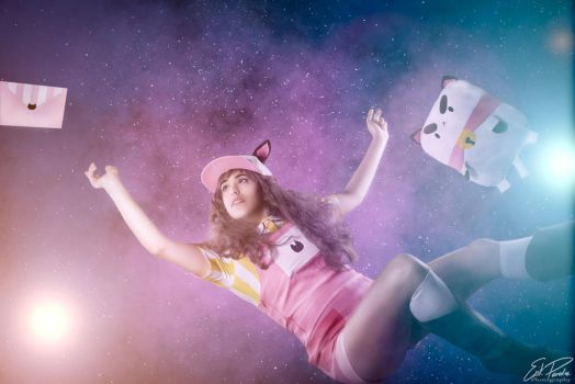 Bee and Puppyact in Space by EmilieGauvin