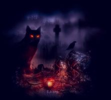 the black cat 2 by L-A-Addams-Art