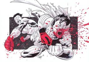 Invincible VS Superboy Prime by RyanOttley