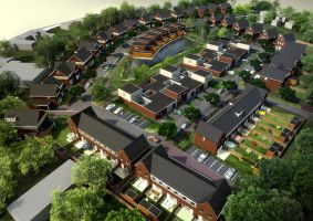 Aerial View of Dutch Homes by myaeonfluxproject