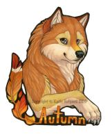 Autumn Bust Badge by Shadow-Wolf