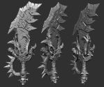 Orc Warhammer weapon by slocik