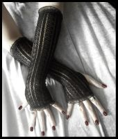 Shadow Strider Arm Warmers by ZenAndCoffee