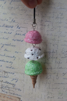 Dangling ice cream cones by Jennut