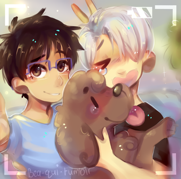 makkachin's favorite boys| com by Bluebiscuits
