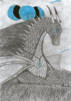 blue-eyed dragon by milyyyy