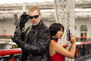 Albert Wesker and Ada Wong- Resident Evil by Paper-Cube