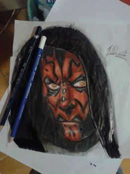 Darth Maul sketch by flaviudraghis