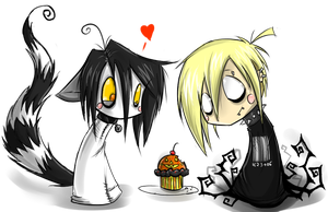 Chibi Riku and Matt cupcakes by BlackVirusVoid-boy