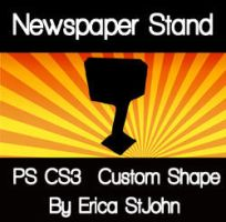 Newspaper Stand PS CS3 Shape by estjohn