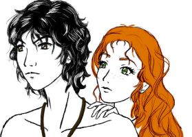 Kartik and Gemma recolored by Lady-Evanna