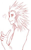 +Axel lineart+ by Jack666rulez