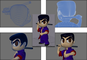 3D Mesh Study: Ryan by chinopisces