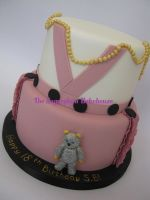 Vivienne Westwood Inspired Cake by SugarplumB