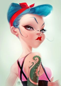 ROCKABILLY GIRL by antoniodeluca