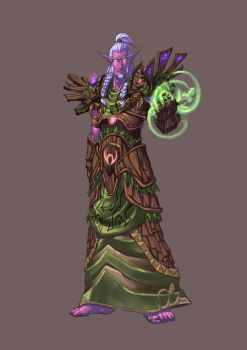 Comission - Nightelf Druid by pulyx