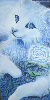 Acrylic painting - Rosey blue by Yechii