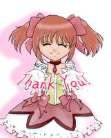 Madoka thank you card by Charlette-Cheshire