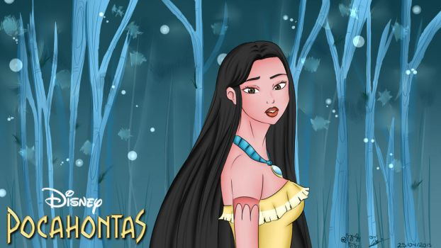 Pocahontas Print Screen Repaint by ruzovymonster
