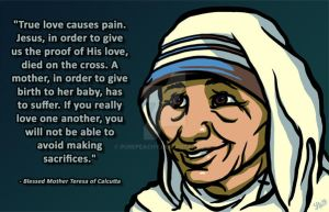 Mother Teresa by PurePeachy