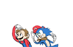 Sonic and Mario (requests) by Zionthe2