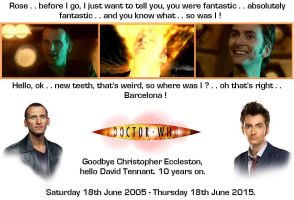 Doctor Who - Goodbye 9, hello 10 by DoctorWhoOne