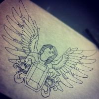 Arrons mother tribute tattoo design. by InkSlave84