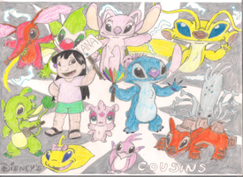 Lilo, Stitch and cousins by Fluttershy626